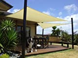Heavy Duty Sun Sail Shade - Large 12'x12' Square - Sandy Beach