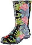 Sloggers Women's  Waterproof Rain and Garden Boot with Comfort Insole, Midsummer Black, Size 8,...