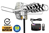 ViewTV 2018 Version Outdoor Amplified Digital HDTV Antenna - 150 Mile Range - Motorized 360°...