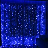 Twinkle Star 300LED Window Curtain String Light for Wedding Party Home Garden Bedroom Outdoor Indoor...