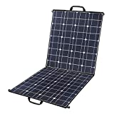 100 Watts 12 Volts Portable Solar Panel Kit Charger Foldable Monocrystalline Solar Charger with MC4...
