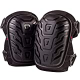 NoCry Professional Knee Pads with Heavy Duty Foam Padding and Comfortable Gel Cushion, Strong Double...