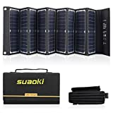 SUAOKI Solar Charger 60W Portable Solar Panel Foldable High Efficiency 5V USB 18V DC Dual Output...