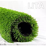 LITA Realistic Deluxe Artificial Grass Synthetic Thick Lawn Turf Carpet 3.3 FT x 5 FT (16.5 Square...