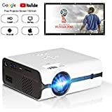 DOACE P3 HD 1080P Video Projector with Portable Screen 100' for Indoor Outdoor Use, Home Theater...