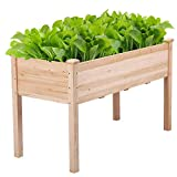 YAHEETECH Wooden Raised/Elevated Garden Bed Planter Box Kit for Vegetable/Flower/Herb Outdoor...