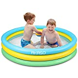 AKASO Kiddie Pools, 59'' x 13'', Inflatable Swimming Pools For Boys, Girls, Toddlers, Easy Set Up...