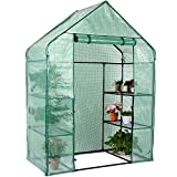 Birtech Walk-in Greenhouse Indoor Outdoor with 6 Shelves and PE Cover, Green House for Plants, Seeds...