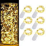 [6-Pack] 7Feet Starry String Lights,Fairy String Lights 20 Micro Starry Leds On Silvery Copper Wire...