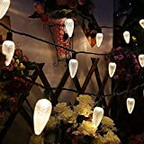 MAXINDA Commercial Grade C9 Big Led Christmas Lights Outdoor Warm White,18Ft 25 LEDs String Tree...