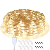 Areful LED Rope Lights, 16.4ft Waterproof Connectable Strip Lighting, 3000K Soft White, Indoor...