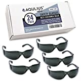 24 Pack of Tinted Safety Glasses (24 Protective Shaded Safety Sunglasses) UV Resistant Eye...