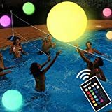 Pool Toys - LED Beach Ball with Remote Control - 16 Colors Lights and 4 Light Modes, 100ft Control...