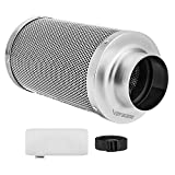 VIVOSUN 4 Inch Air Carbon Filter Odor Control with Australia Virgin Charcoal for Inline Fan, Grow...