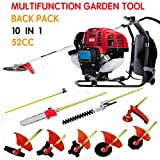 CHIKURA Backpack 10 in 1 Multi Garden Brush Cutter Whipper Snipper Chain Saw Hedge Trimmer