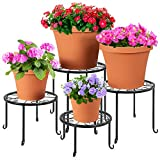 Different Sizes: Best Choice Products Set of 4 Indoor Outdoor Metal Nesting Plant Stands, Flowerpot...