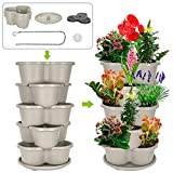 Amazing Creation Stackable Planter Vertical Garden for Growing Strawberries, Herbs, Flowers,...