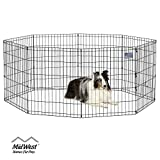MidWest Foldable Metal Exercise Pen / Pet Playpen, 24 W x 30 H Inch