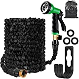 HOMOZE Garden Hose Expandable Hose Pipe 50FT Flexible and Expanding Garden Water Hosepipe With Brass...