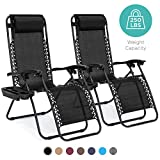 Best Choice Products Set of 2 Adjustable Zero Gravity Lounge Chair Recliners for Patio, Pool w/Cup...
