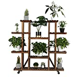 Yaheetech Plant Stand Shelf Indoor - 6 Tier Tiered Wood Plant Flower Pots Shelves Rack Holder Stand...