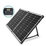 HQST 100 Watt 12Volt Off Grid Polycrystalline Portable Foldable Solar Panel Suitcase with Charge...
