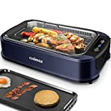 Indoor Grill Electric Grill Griddle CUSIMAX Smokeless Grill, Portable Korean BBQ Grill with Turbo...