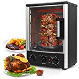 Nutrichef Upgraded Multi-Function Rotisserie Oven - Vertical Countertop Oven with Bake, Turkey...