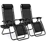 Best Choice Products Set of 2 Adjustable Steel Mesh Zero Gravity Lounge Chair Recliners w/Pillows...