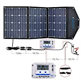 ACOPOWER 120W Portable Solar Panel Kits, 12V Foldable Solar Panel with 10A Charge Controller in...