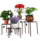 AISHN Metal Plant Stand 4 in 1 Potted Irons Planter Supports Floor Flower Pot Round Rack Display...