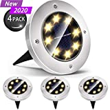 Solar Lights Outdoor, Solar Disk Lights 8 LED Waterproof Solar Lights Outdoor for Patio Pathway...