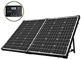 HQST 100 Watt 12Volt Off Grid Monocrystalline Portable Foldable Solar Panel Suitcase with 10A Charge...