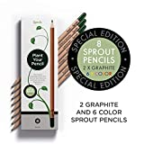 Sprout Plantable Coloring Pencils with Seeds |Box of 8| in Natural Sustainable Wood | Perfect for...