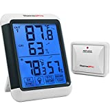 ThermoPro TP65A Indoor Outdoor Thermometer Digital Wireless Hygrometer Temperature, with Jumbo...