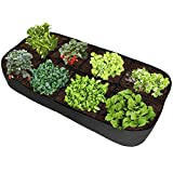 ASSR Fabric Raised Garden Bed, 135 Gallon 8 Holes Rectangle Breathable Planting Container Grow Bag...