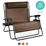 Best Choice Products 2-Person Double Wide Adjustable Folding Steel Mesh Zero Gravity Lounge Recliner...