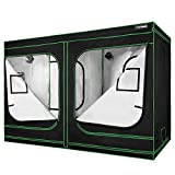 VIVOSUN 96'x48'x80' Mylar Hydroponic Grow Tent with Observation Window and Floor Tray for Indoor...