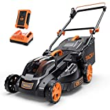 TACKLIFE Lawn Mower L9, 40V Max 4.0Ah, Brushless Motor, 16IN Cordless Lawn Mower, with Battery and...