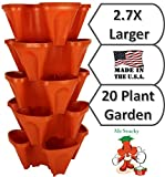 LARGE Vertical Gardening Stackable Planters by Mr. Stacky - Grow More Using Limited Space And...
