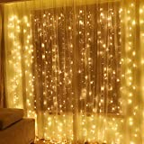 Twinkle Star 600 LED Window Curtain String Light for Wedding Party Home Garden Bedroom Outdoor...