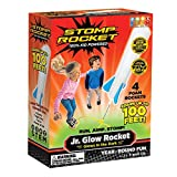Stomp Rocket The Original Jr. Glow Rocket, 4 Rockets and Toy Rocket Launcher - Outdoor Rocket Toy...