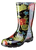 Sloggers Women's Waterproof Rain and Garden Boot with Comfort Insole, Midsummer Black, Size 8, Style...