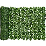 DearHouse Artificial Ivy Privacy Fence Screen, 118x39.4in Artificial Hedges Fence and Faux Ivy Vine...