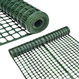 Abba Patio Snow Fence 4' X 100' Feet Plastic Safety Fence Roll Temporary Poultry Fencing Mesh...