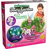 Little Growers Fairy Garden Craft Kit with Enchanted Unicorn and Light-Up Fairy Lights - Paint,...