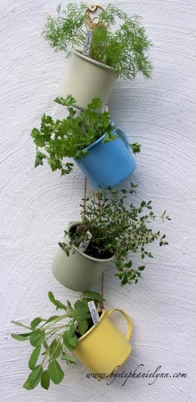 Hanging Coffee Cup Garden
