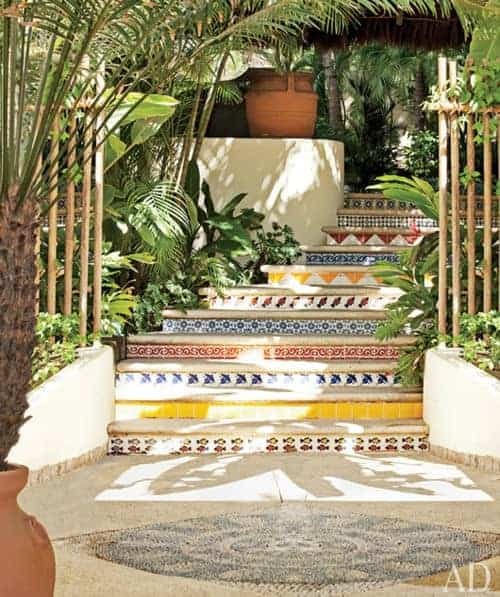 Colorful Stairs Garden Decor