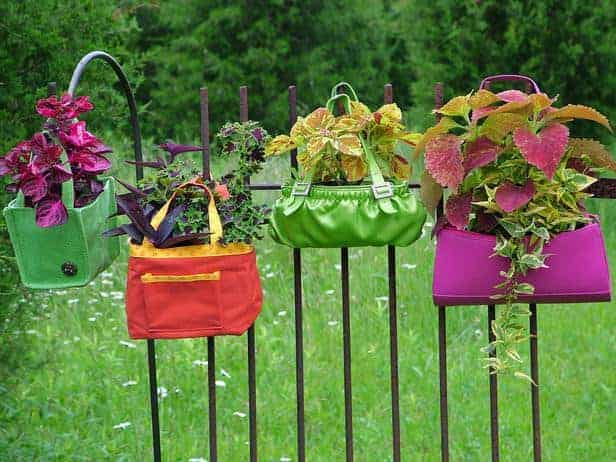 Riy: Hanging Garden Handbags - garden-decor