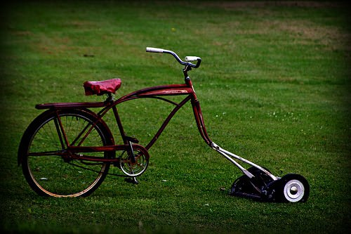 The Bike Mower - garden-decor